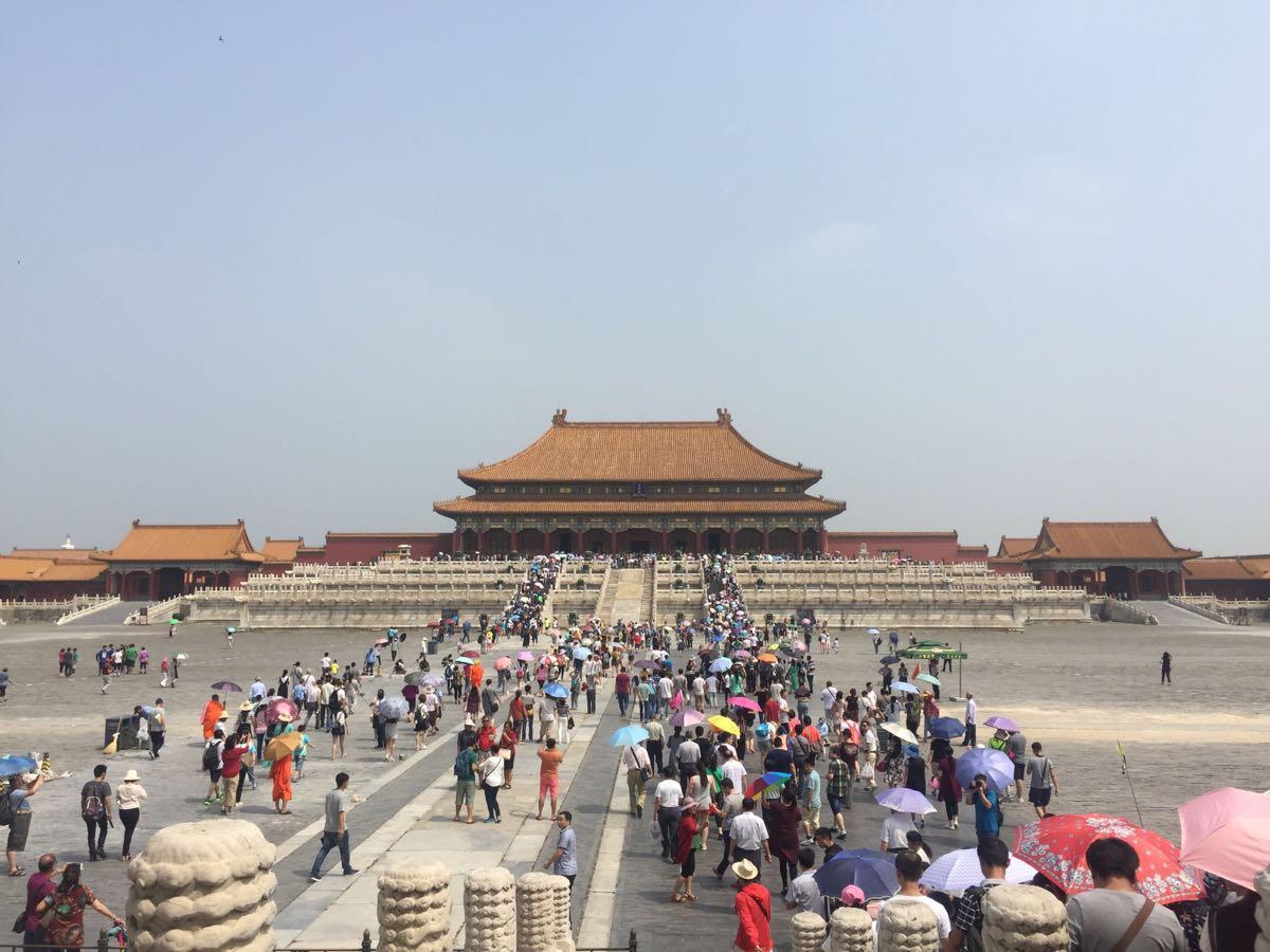 中国故宫手绘素材图