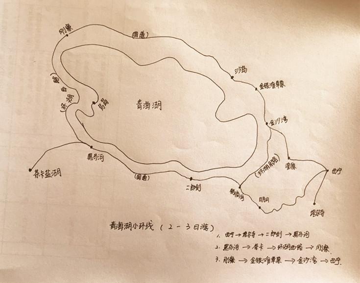 三张手绘地图,教你秒懂青海环线游: 大环线: 中环线: 小环线: 由于