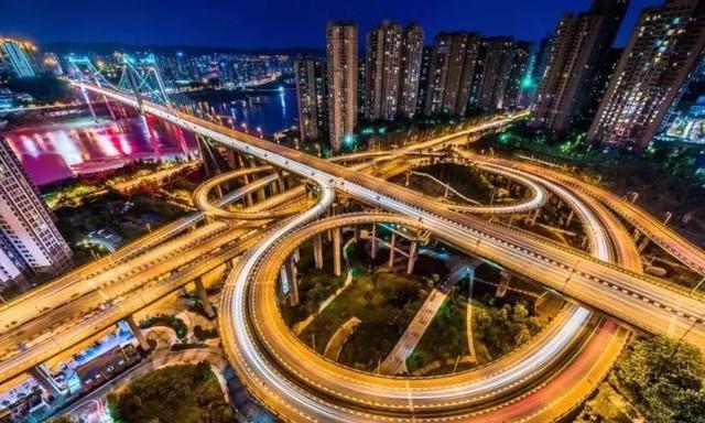 """一座""""重庆主城最美立交桥"""""""