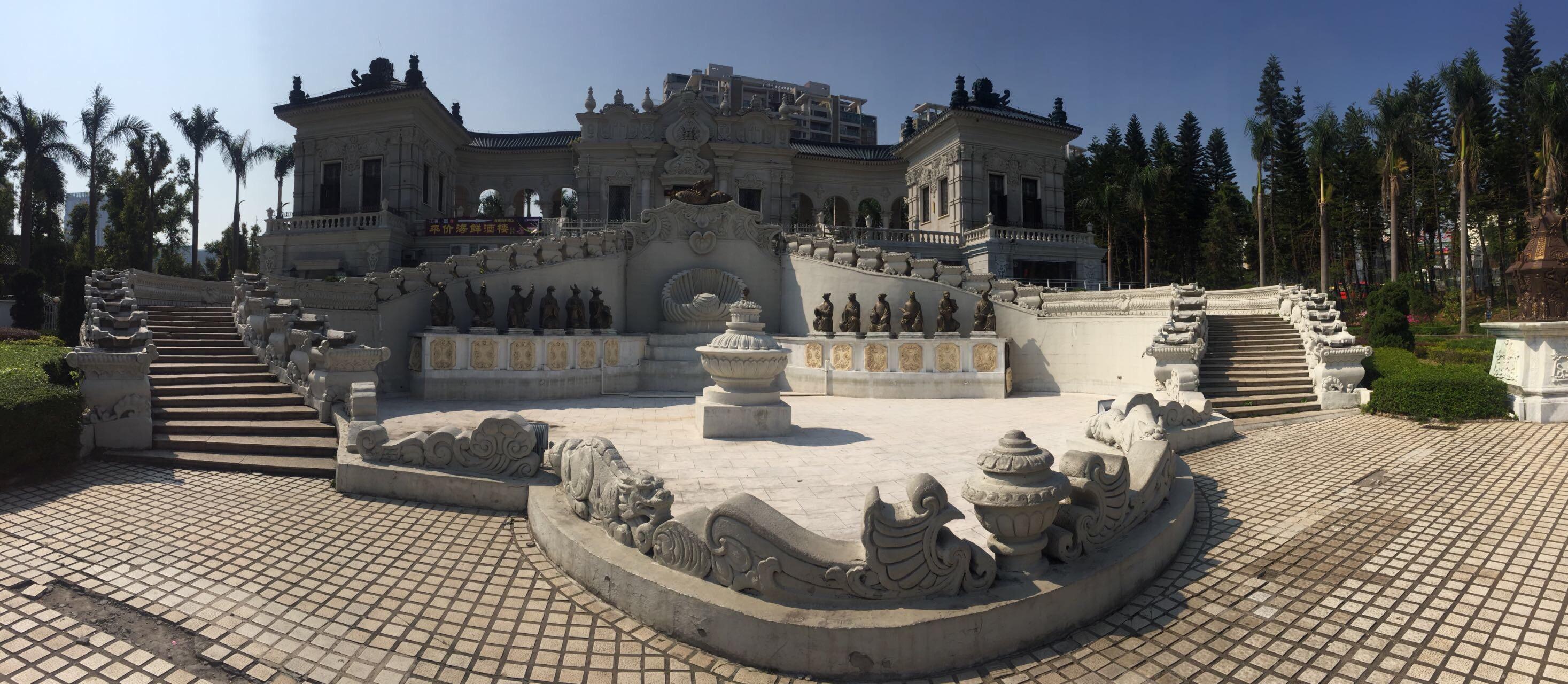 珠海人造景点,是按北京圆明园1:1建造了许多景点,我看到了想要看的