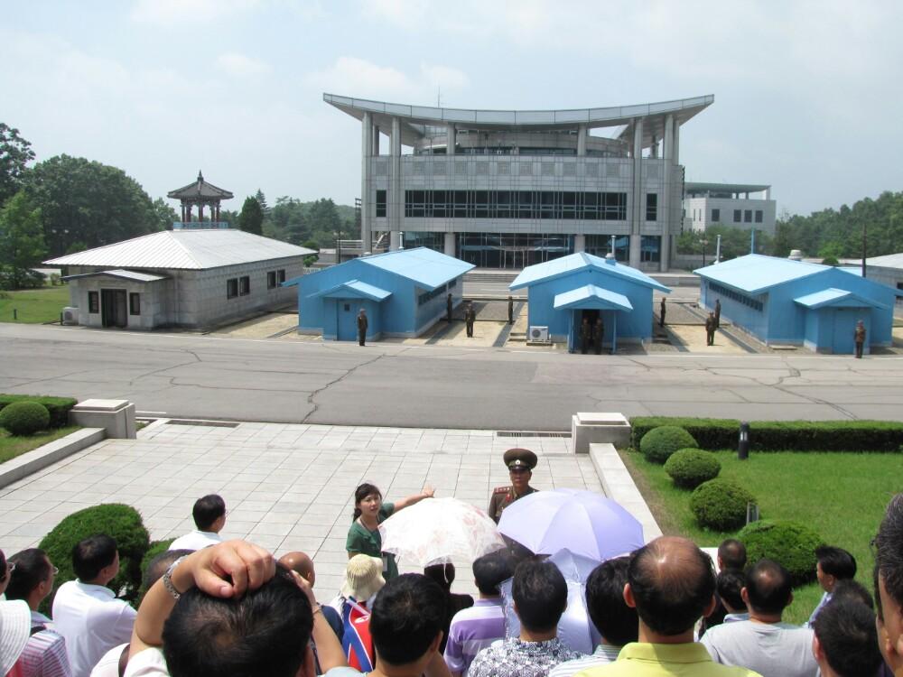 到了朝鲜旅游,不去板门店的不多''去了就是想看看当年志愿军