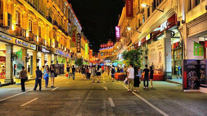 香港小吃街手绘