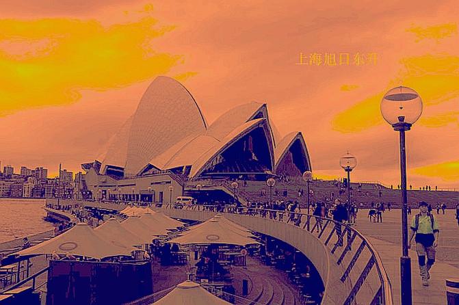 【澳大利亚】晚霞渲染的悉尼歌剧院和海港大桥美爆了!图片
