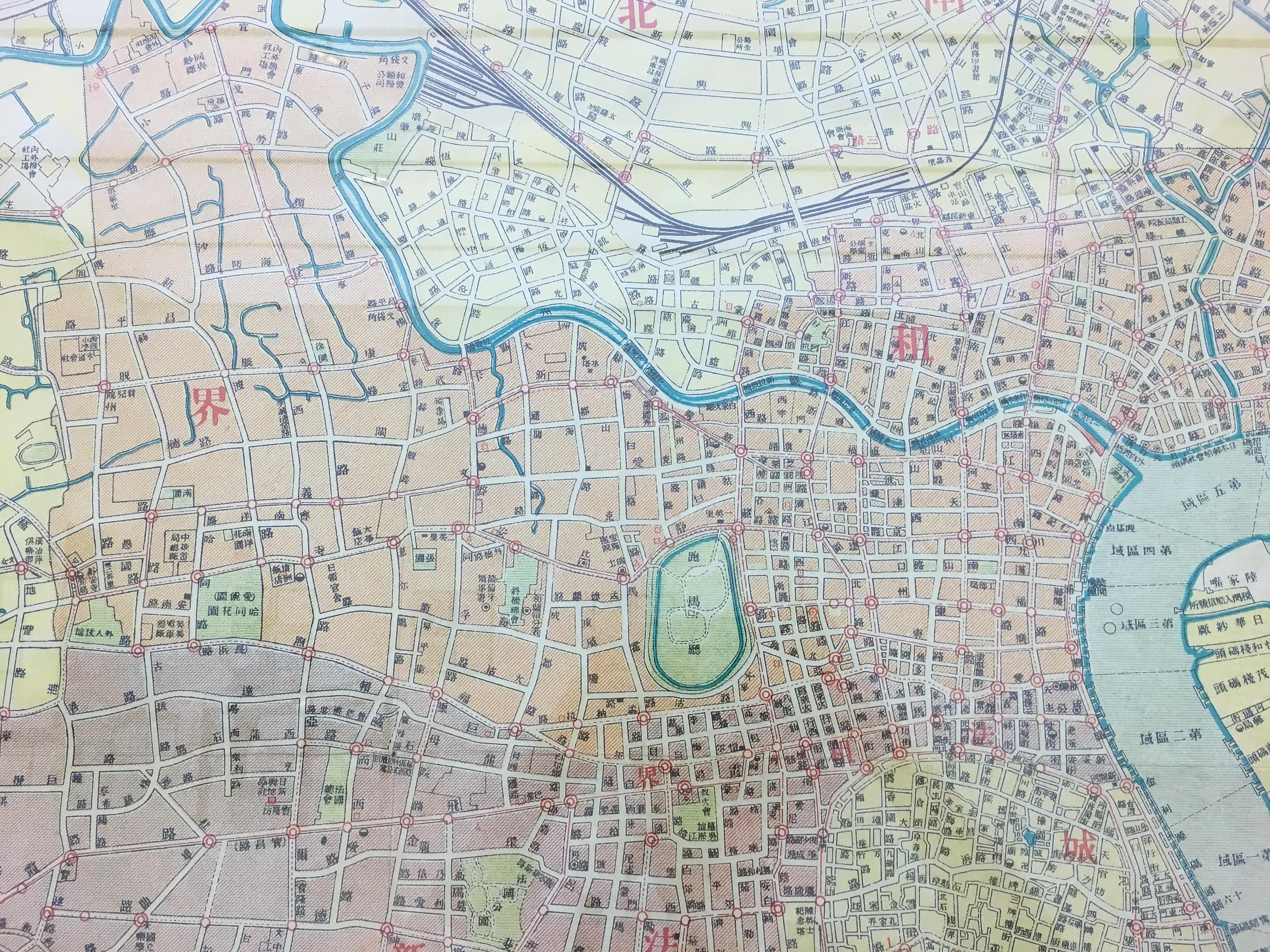 上海艺术手绘地图