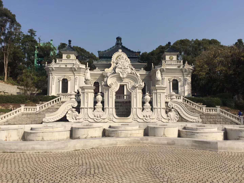 圆明园新园中的复原产物,远瀛观位于圆明三园之长春园西洋楼景区中部