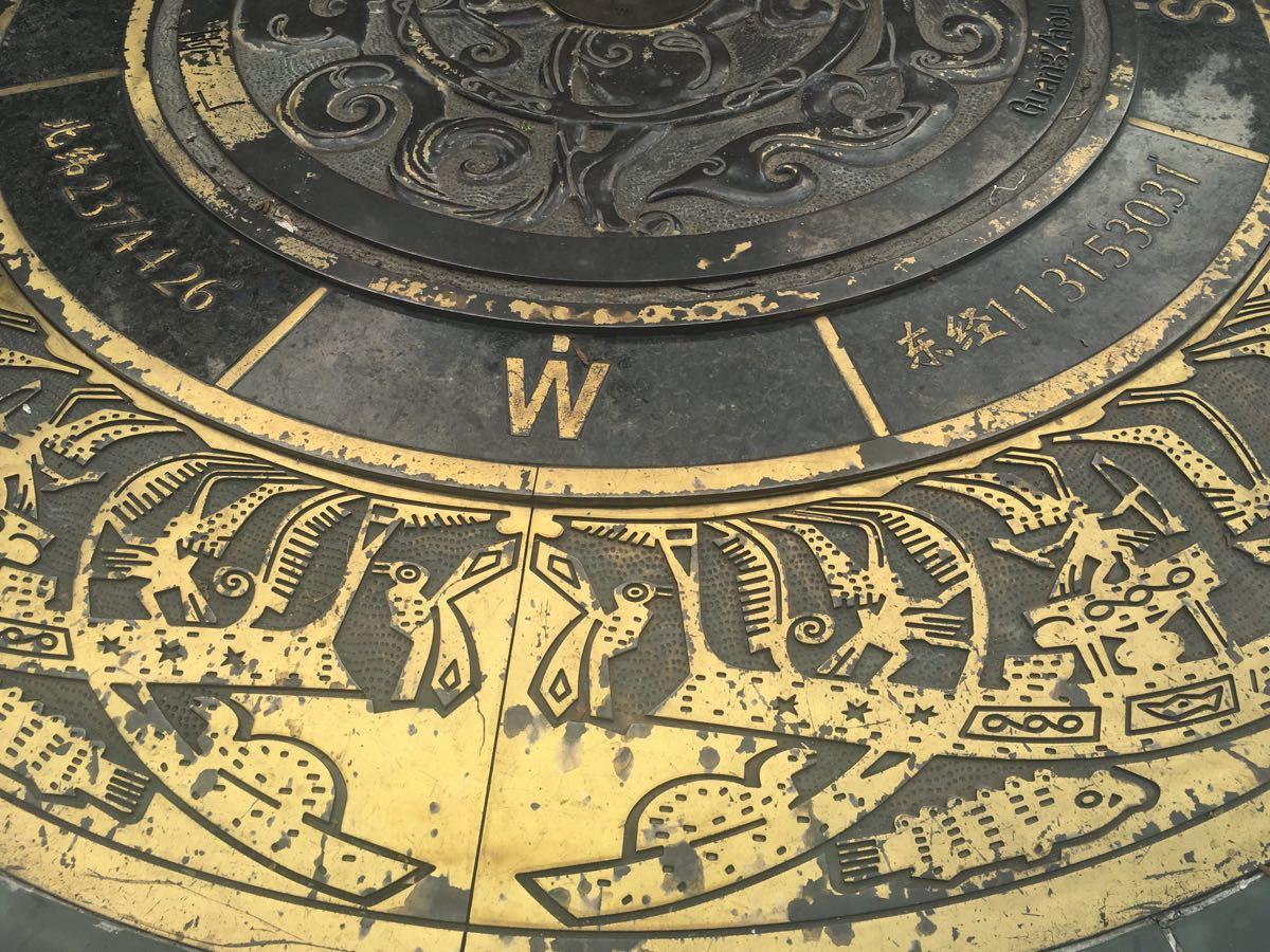 广州名胜古迹手绘图