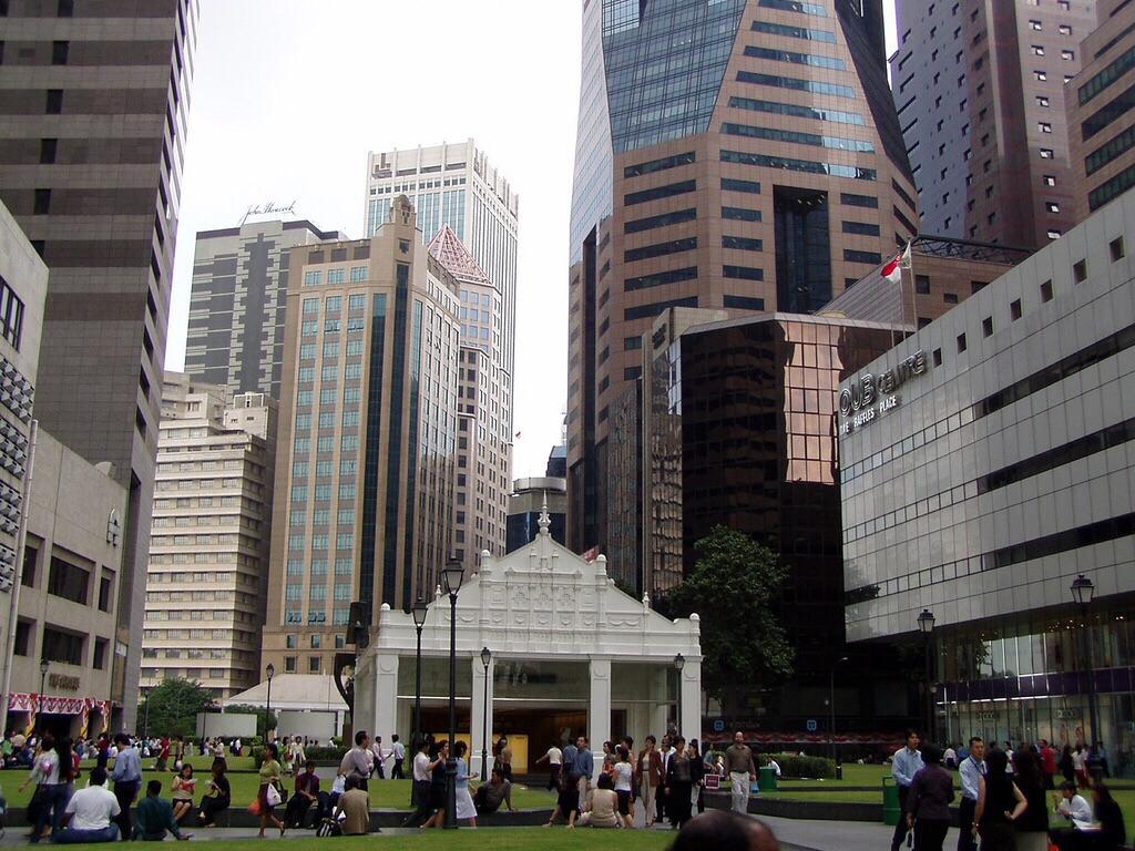 高楼林立,各种金融中心,商业中心,使得这里非常的繁华也很快节奏图片