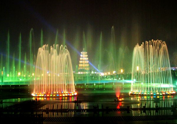 【携程攻略】西安大雁塔北广场音乐喷泉好玩吗,西安大