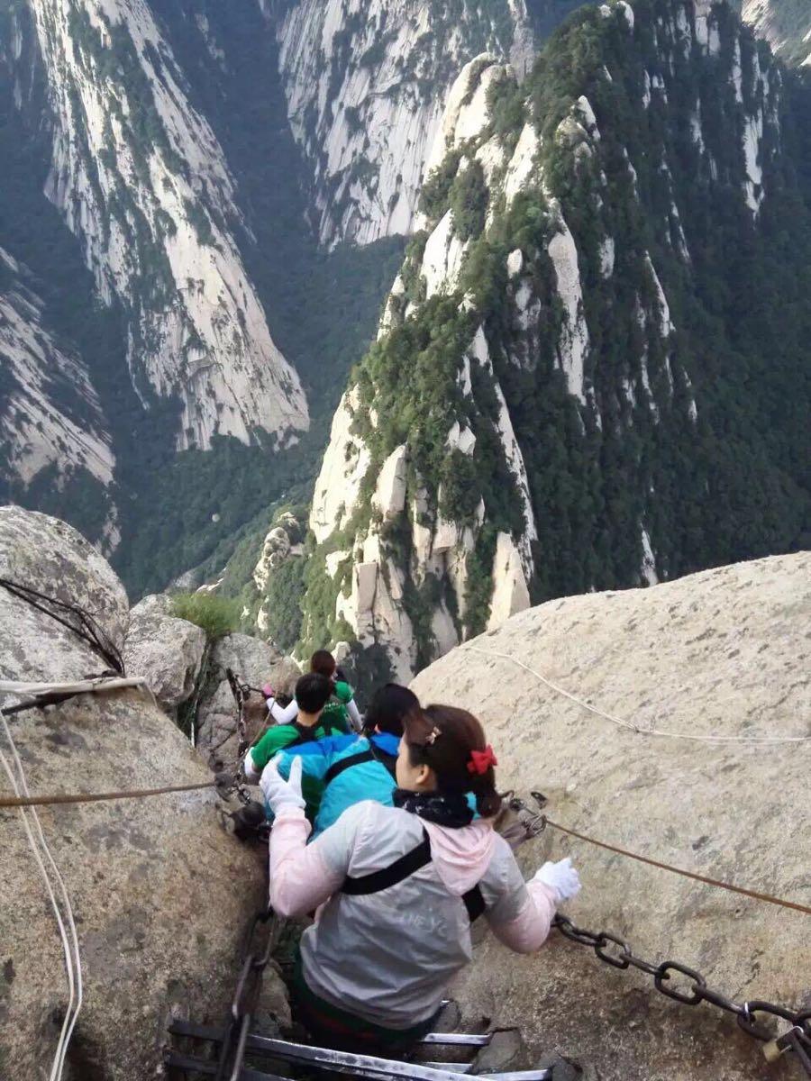 华山西线索道图片