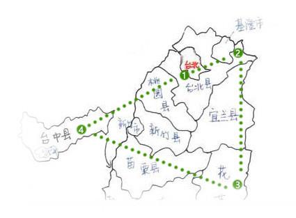 台湾著名景点简笔画