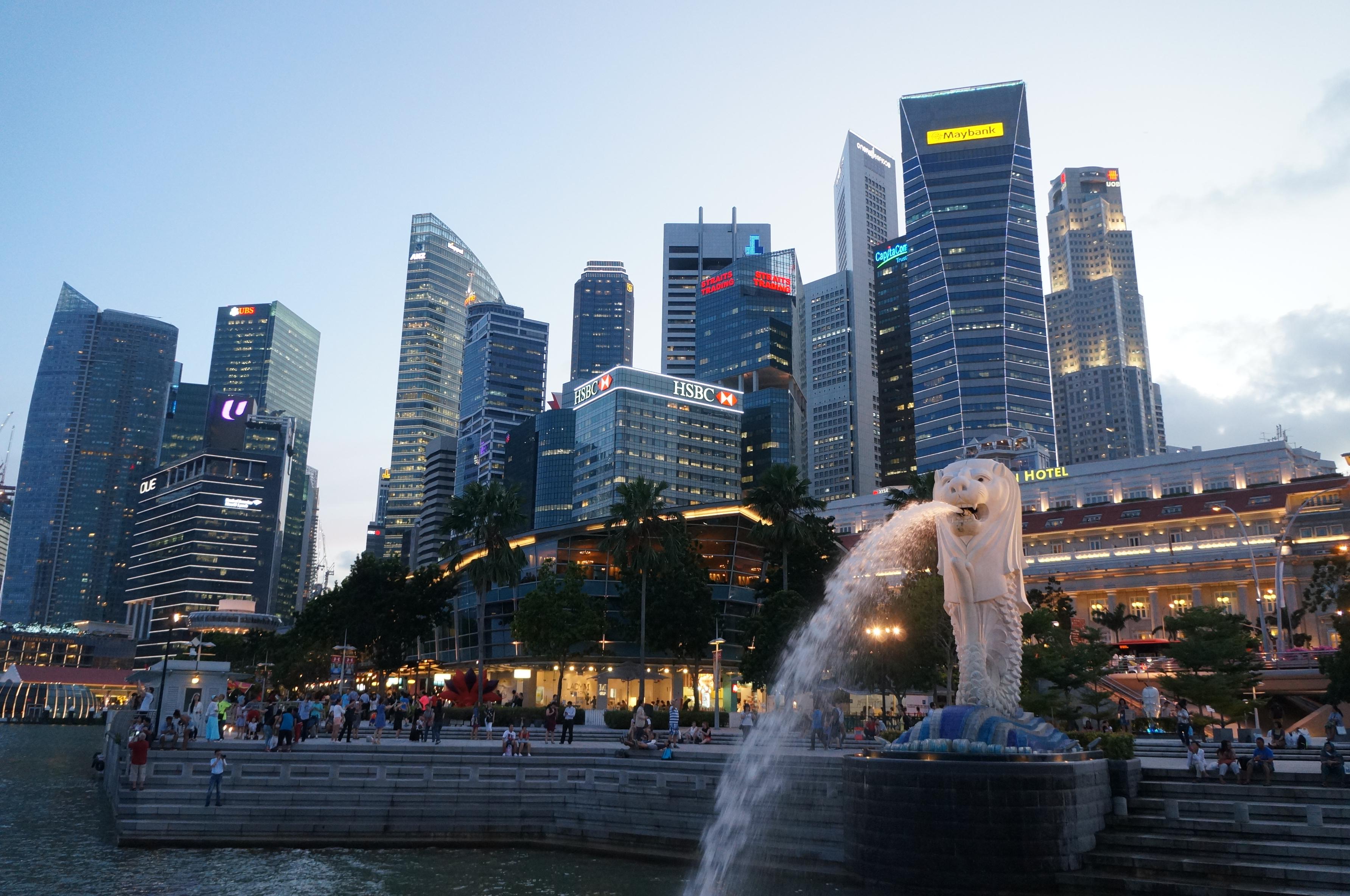【携程攻略】新加坡鱼尾狮像公园景点,看到这个喷水的