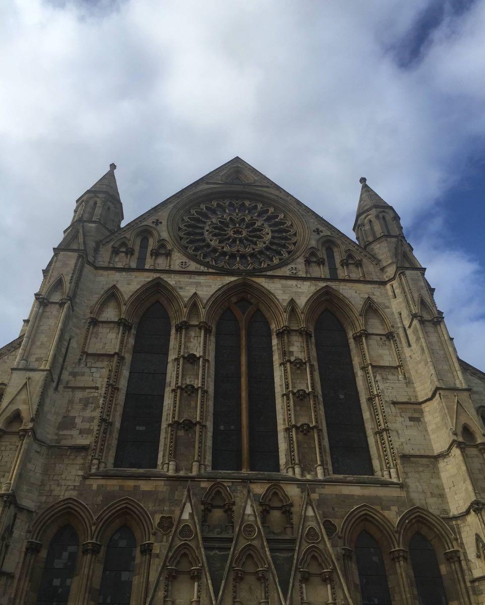 约克大教堂,是欧洲现存最大的中世纪教堂.图片