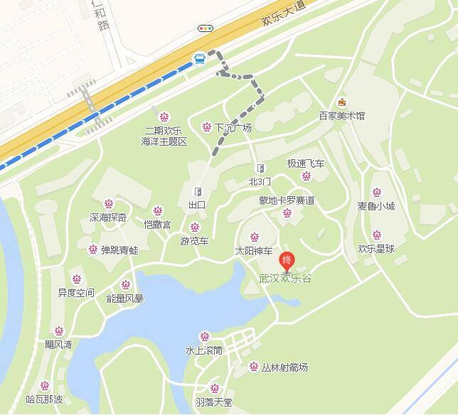 武汉东湖宾馆离欢乐谷有多远图片