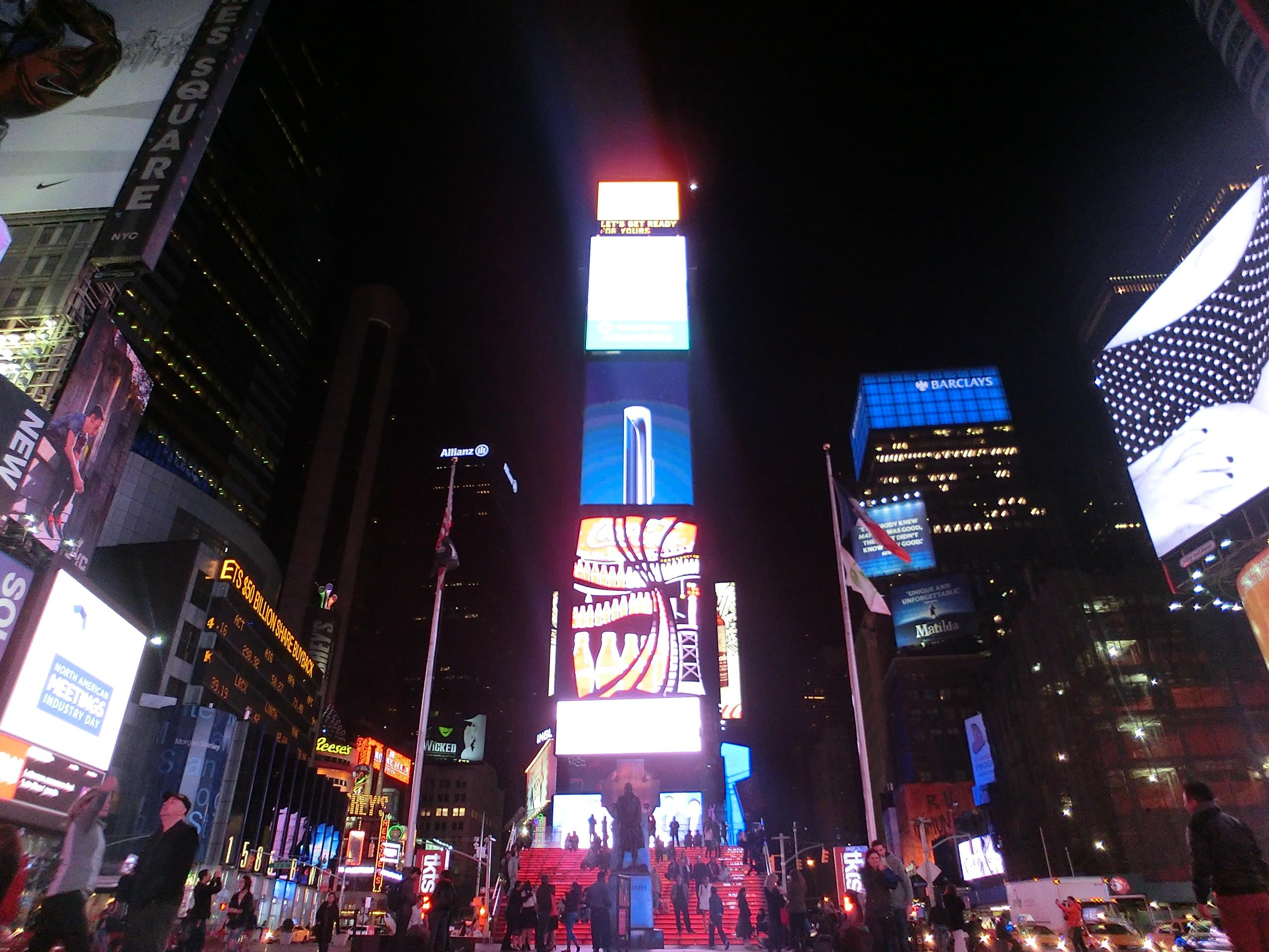 字路口商业繁荣纽约时代广场-十字路口商业繁荣