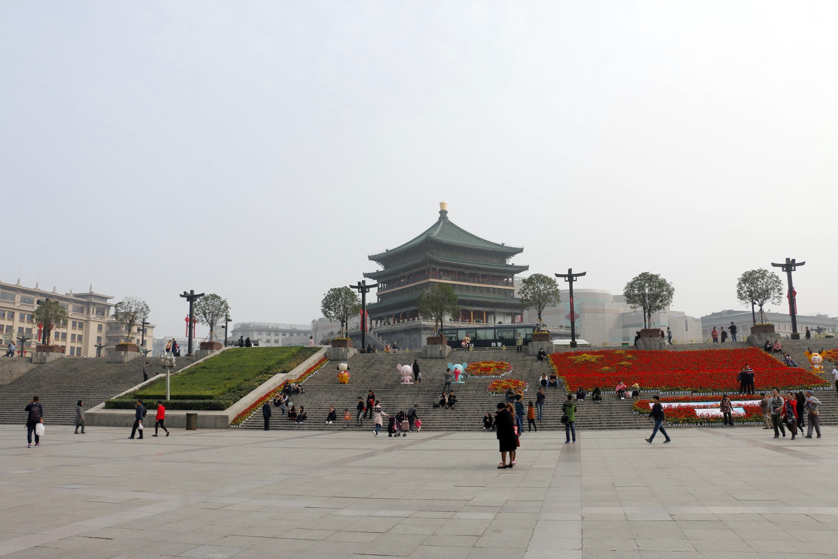 西安钟楼旅游景点攻攻略天问略图图片