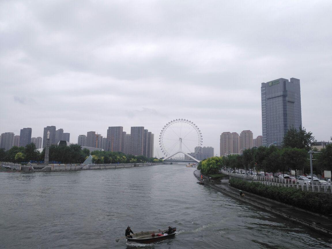 天津下雨风景图
