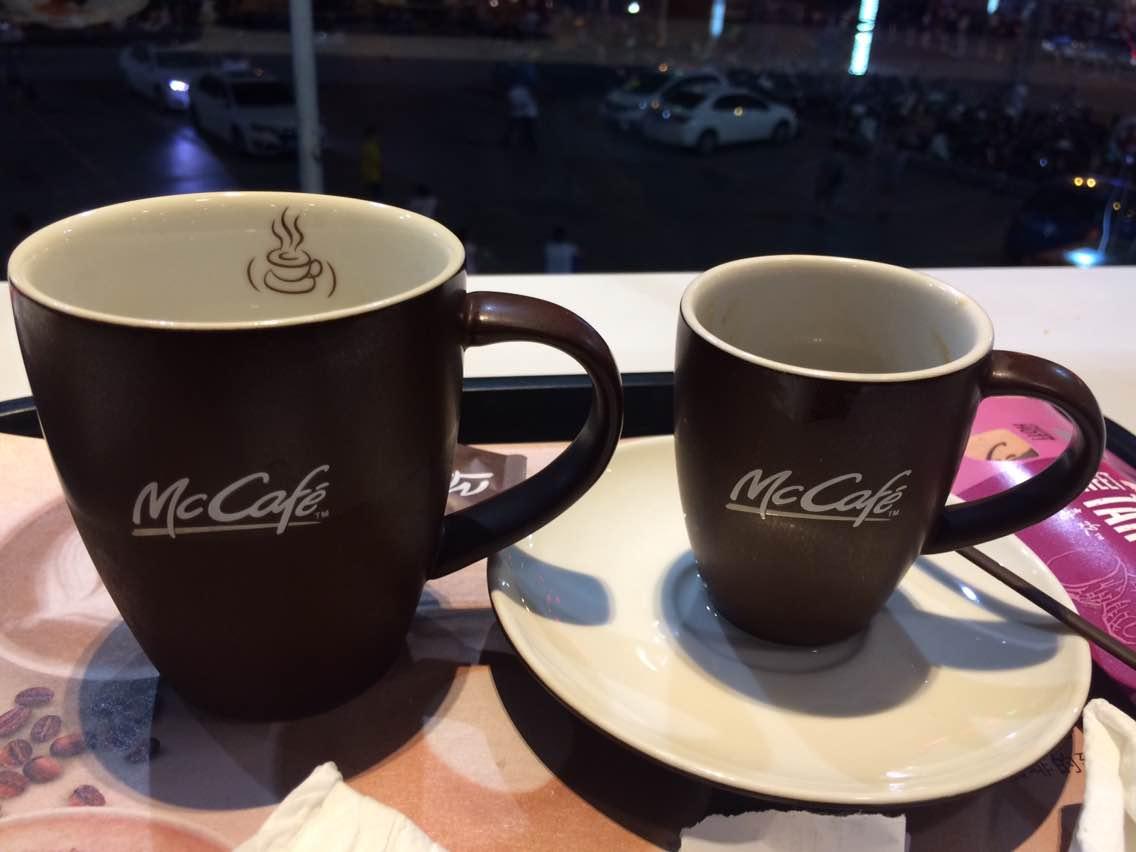 麦当劳咖啡杯子_麦当劳(北海店)