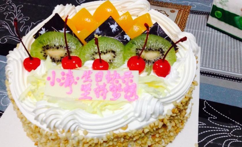 蚂蚁水果图案蛋糕