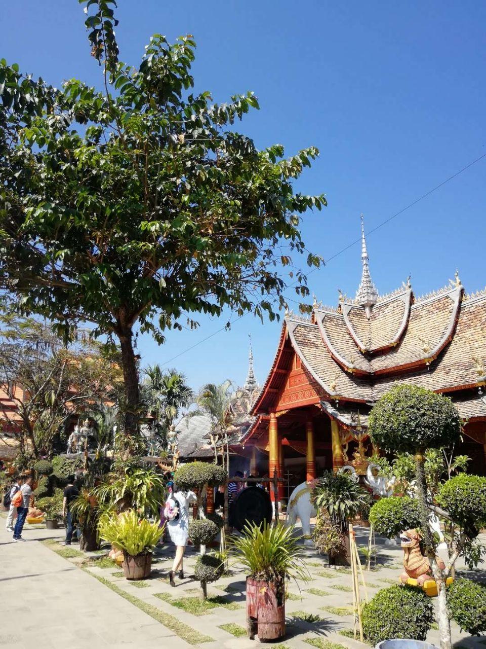 西双版纳傣族园位于景洪市东南的勐罕镇。傣族园由保存较完好的五个傣族自然村寨组成,分别是曼将、曼春满、曼听、曼乍、曼嘎。无论你走进哪一个寨子,都会看到典型的缅式佛塔和传统的傣家竹楼,感受到浓郁的傣家文化。 走进景区大门,首先是迎宾广场,在这里接受热情的傣家人跳迎宾舞、唱祝辞、洒水祝福。之后来到曼春满古佛寺,这是西双版纳古老的佛寺之一,已有1400多年的历史,进到寺中,可在琅琅的诵经声中拜佛、祈福。 西双版纳傣家人隆重的节日莫过于泼水节,在傣族园的泼水广场,你可以感受到这热烈的场面。这里天天都是泼水节,上百