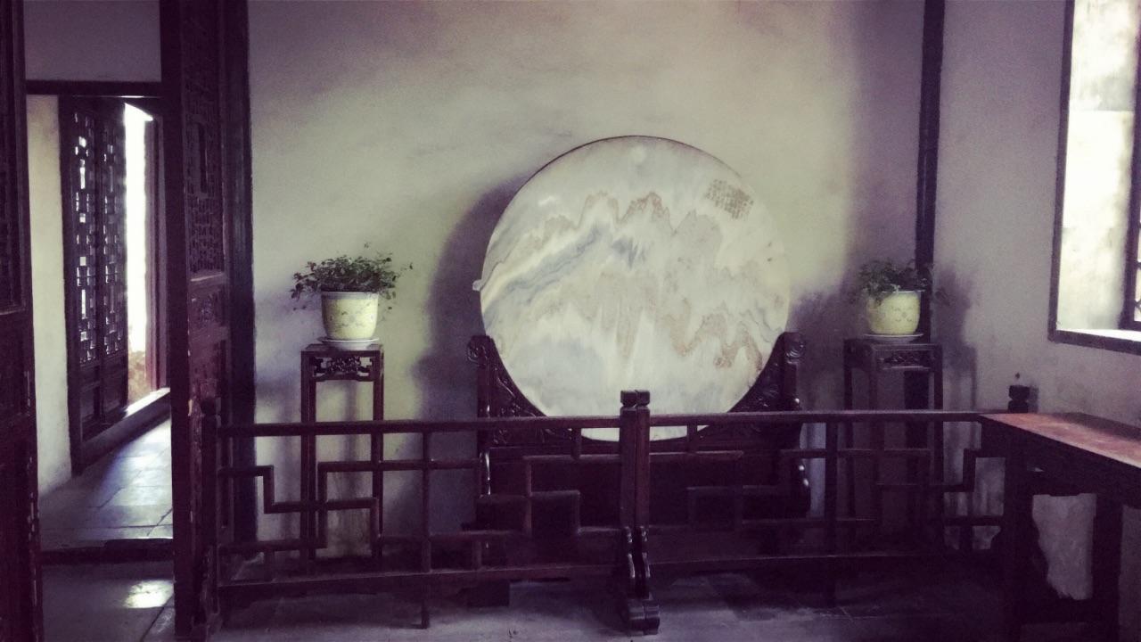 苏州留园走廊手绘