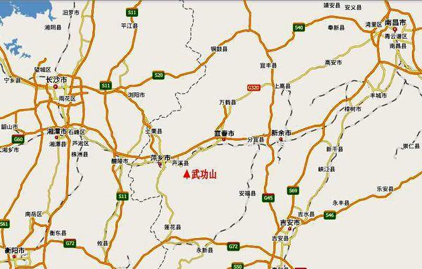 外地游客来萍乡的话,推荐从萍乡火车站附近萍乡长途汽车站去武功山