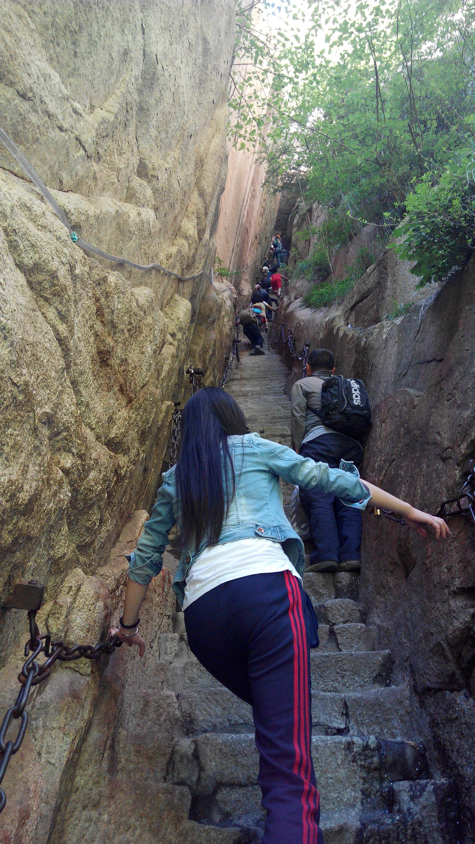 最有纪念的一次旅行,如果有机会,建议大家都要去爬一次华山.图片