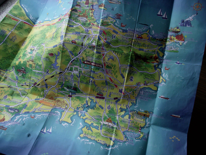 威海手绘旅游图