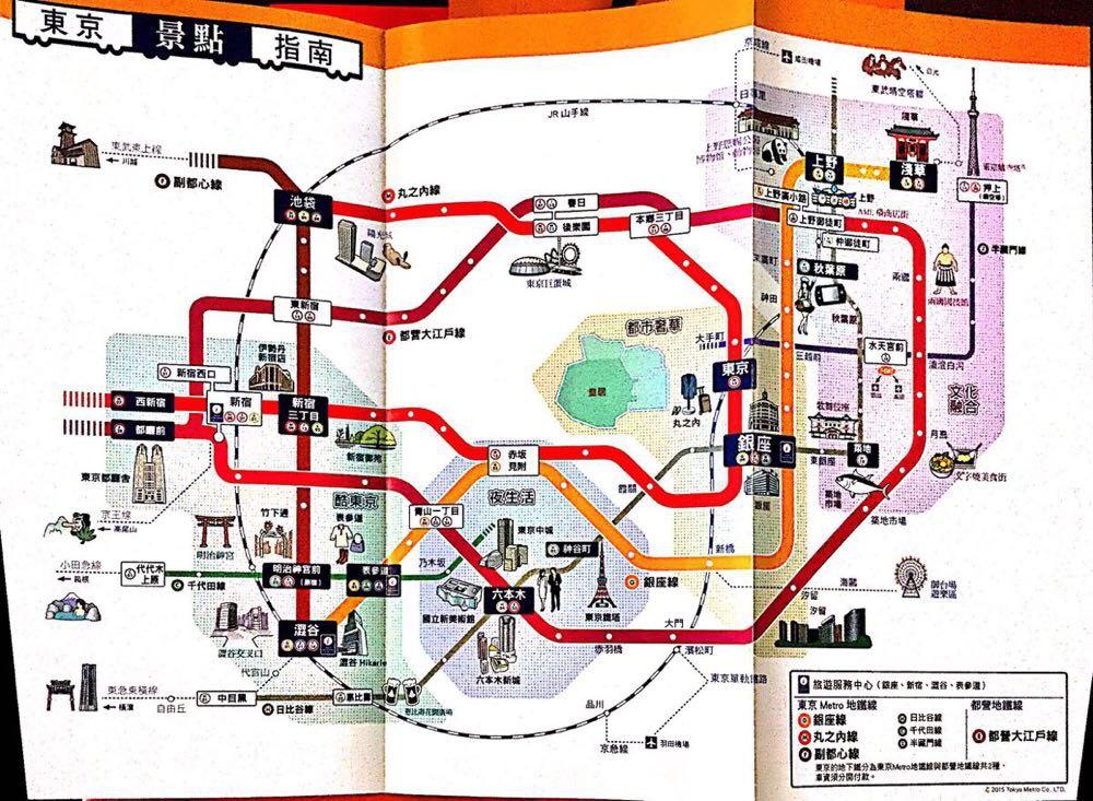 东京自由行实用地图手册电子版