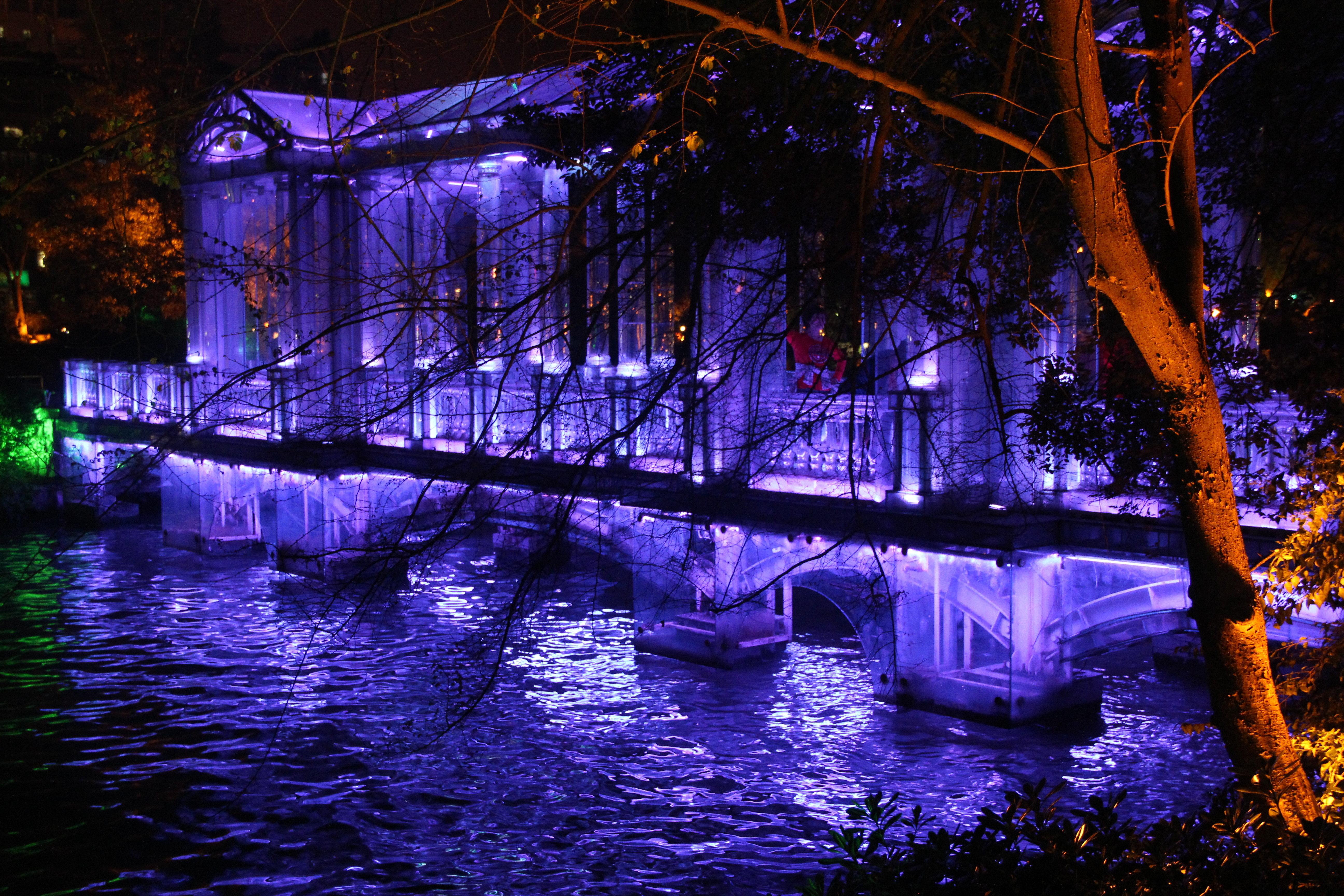夜游就是看桂林的n多桥,这个比较特别是纯玻璃图片