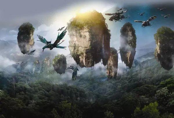 下图是网上找来的阿凡达剧照,自己比去吧  天子山原名青岩山,因古代