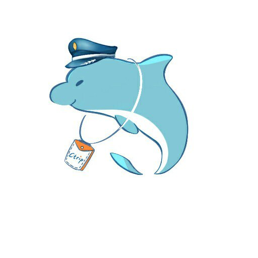 这是为携程口袋攻略设计的logo,希望大家喜欢身为机长的携程小海豚