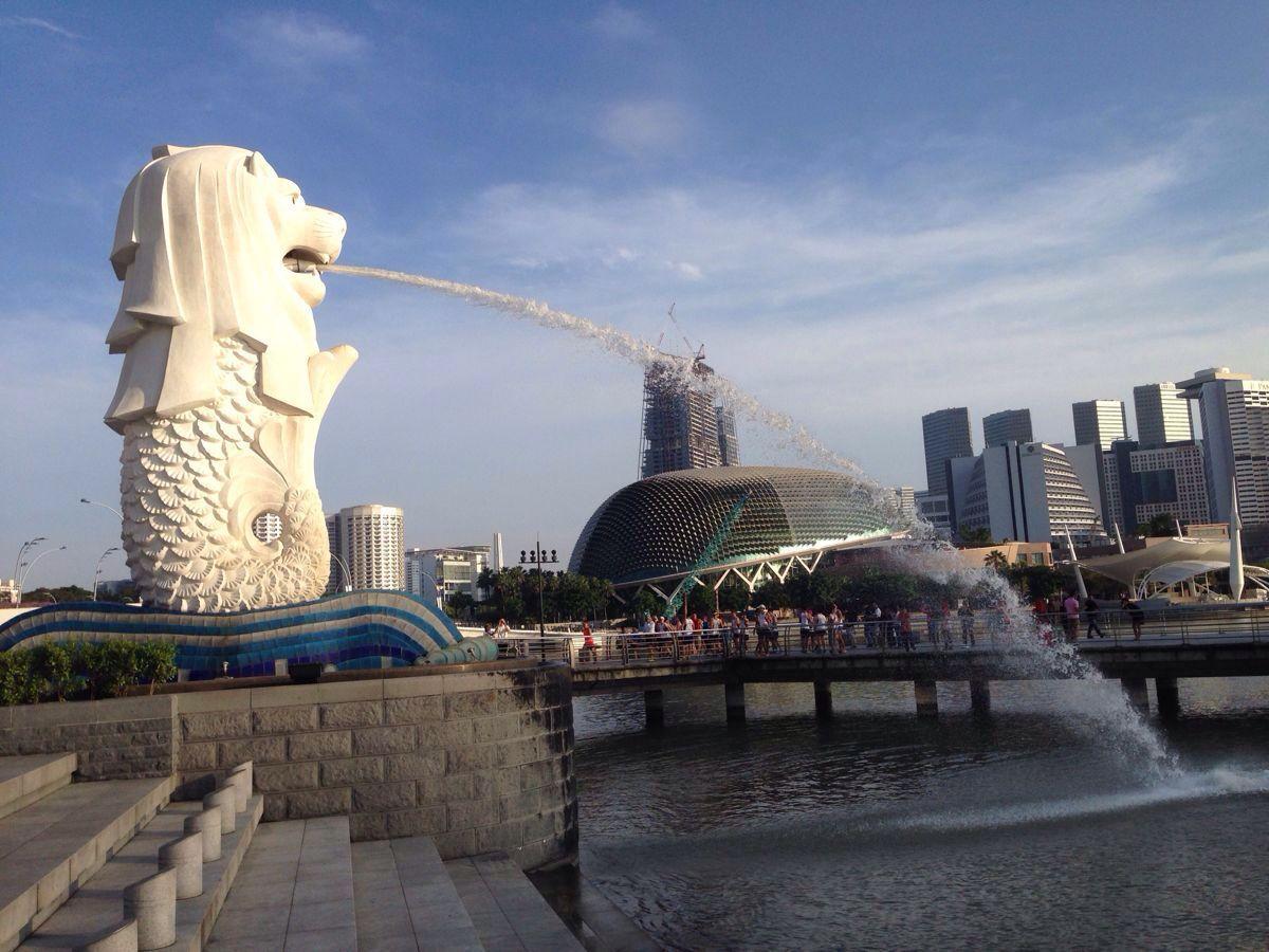 【携程攻略】新加坡鱼尾狮像公园景点