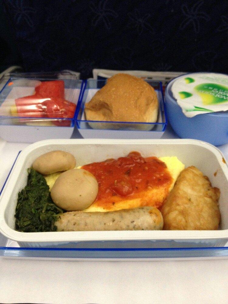 回去的飞机餐