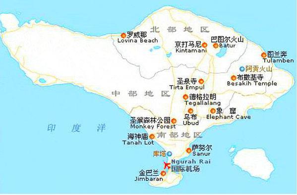出发前先了解下巴厘岛地图.