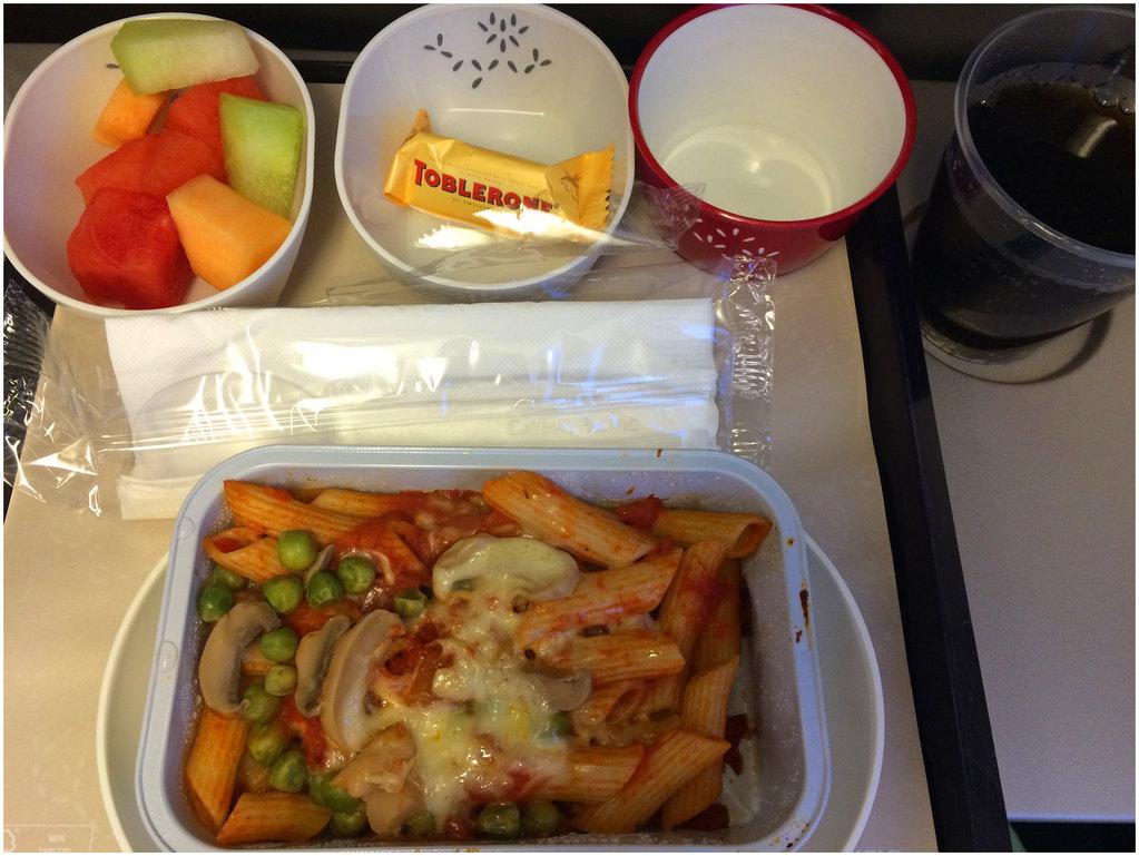 国泰航空的飞机餐还行