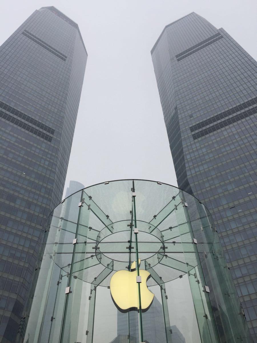 该店的位置很好,正处在陆家嘴的中心区域。虽然在地下一层,不过中间那个大大的透明圆形柱子的被虫子咬了一口的苹果标志是谁都认识的。本来这个地方的人就多,所以这里人多也是较正常的。下到地下的楼梯嫌窄了点,上、下没有分流,较为拥挤。可能Apple也没想到中国的果粉那么多吧。到了店面,简直是黑压压的人,围着方形的桌子成了一个个方阵。Apple的各种产品这里都有。Nano、Itouch、Iphone、Ipad、
