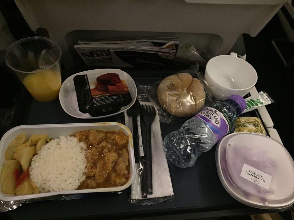 登机飞机上的饮食