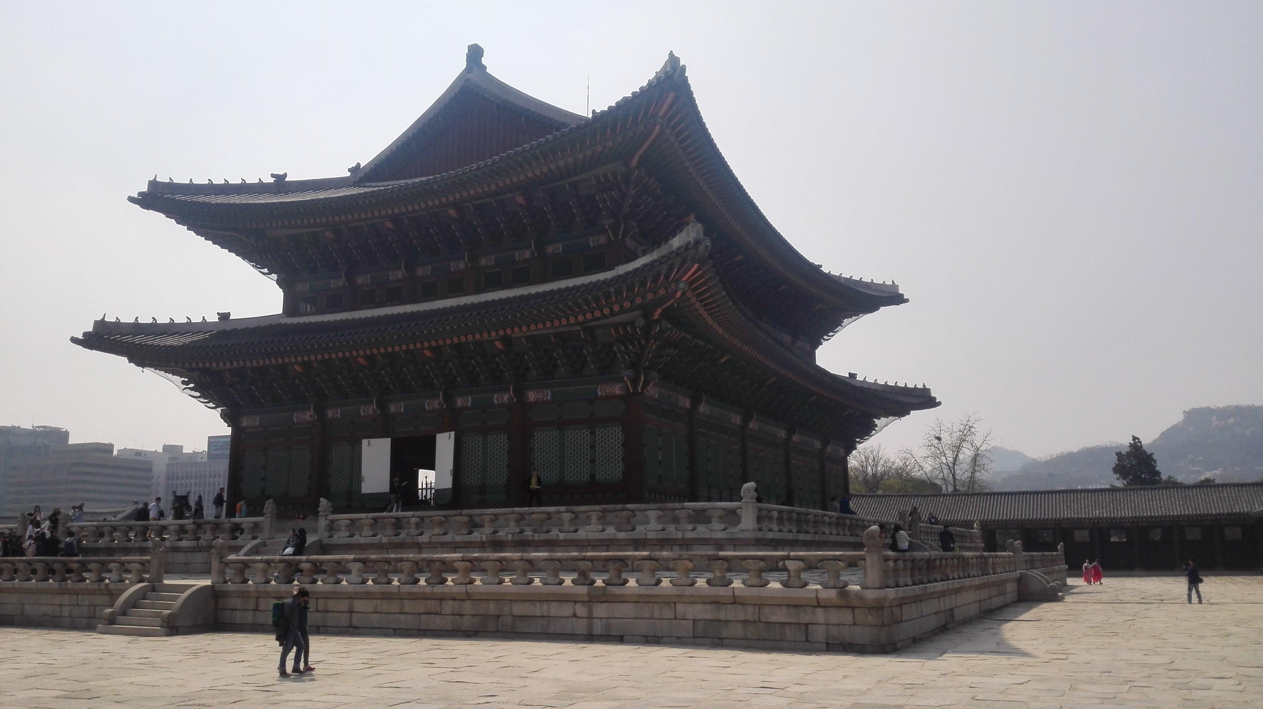 韩国首尔的老皇宫--宫殿图片