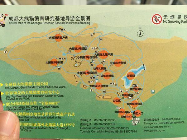 成都熊猫手绘地图
