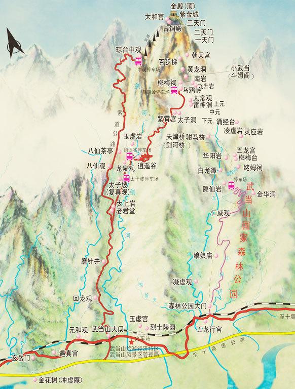 畅游中国#武当山:借问道者何处去,行人遥指太和山图片