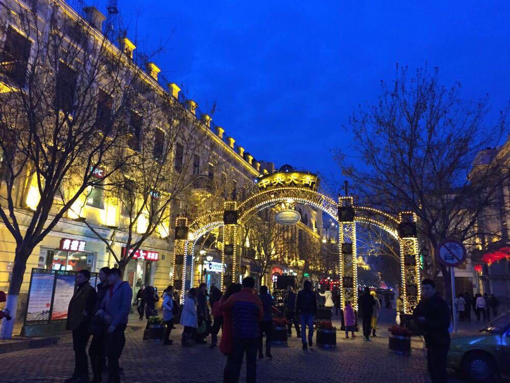 欧式街道夜晚风格背景