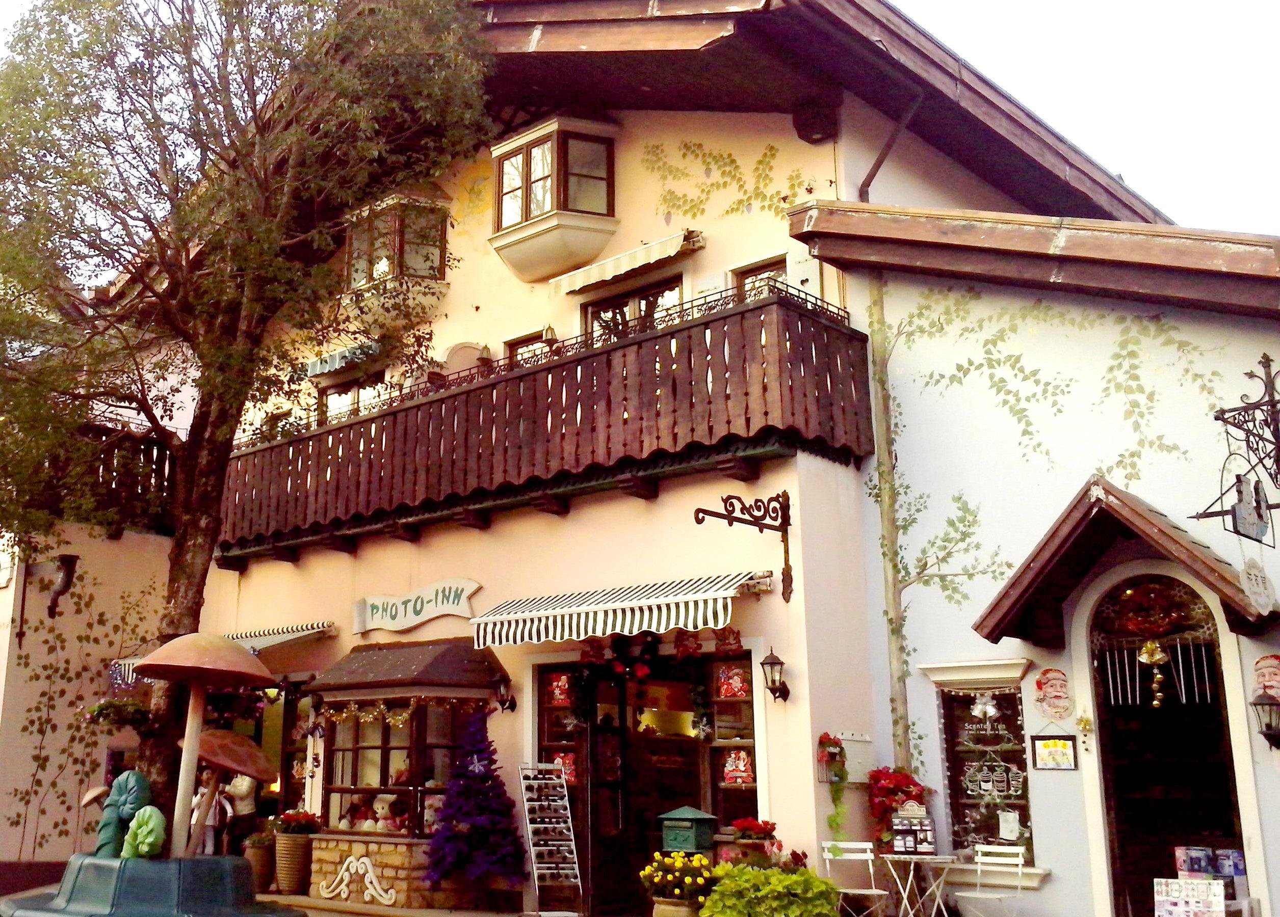 欧洲小镇街景图片