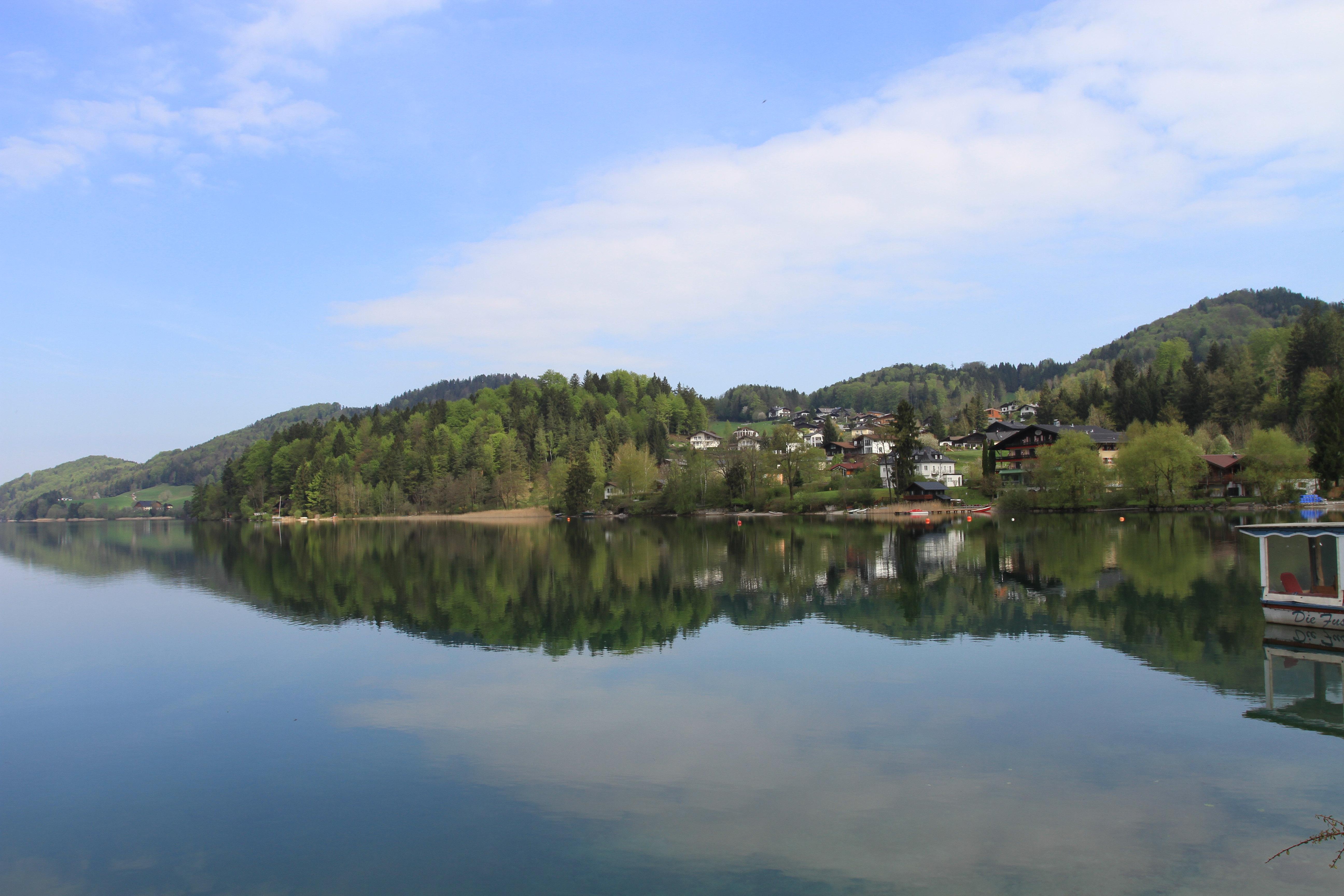 湖_捷,奥,匈自在游之五--萨尔茨卡默古特湖区--湖光山色好风光