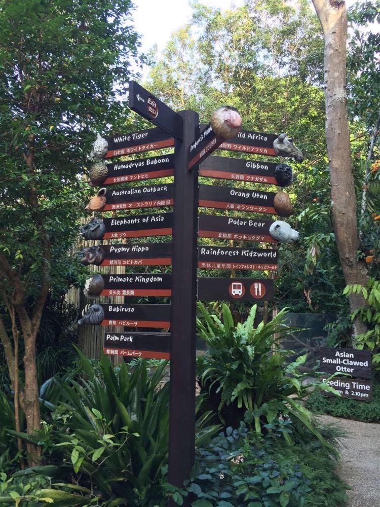 动物园的指示牌
