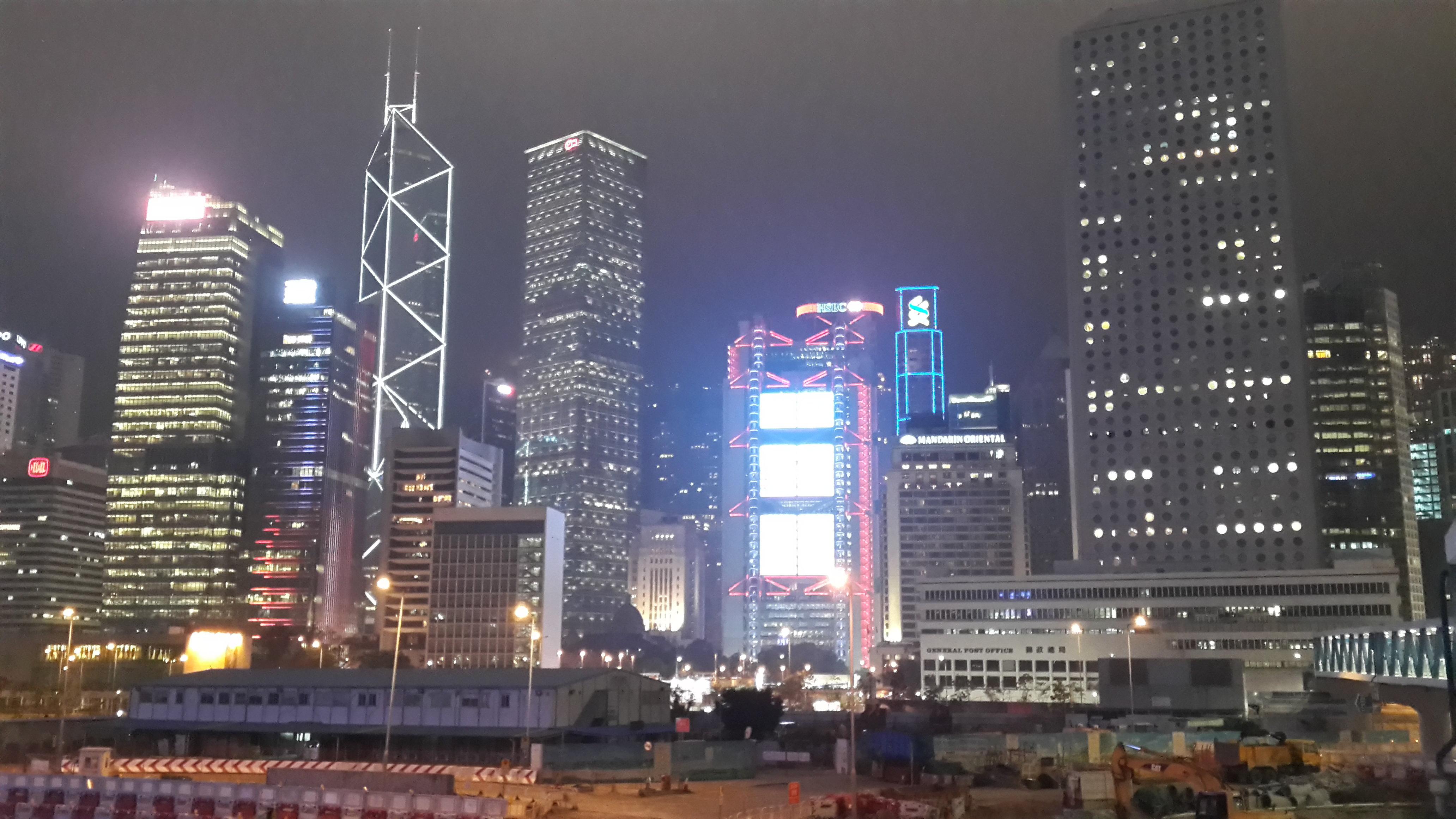 夜晚高楼大厦卡通素材
