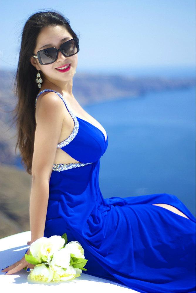 90后美女与男友希腊爱琴海的浪漫约定 最诚最
