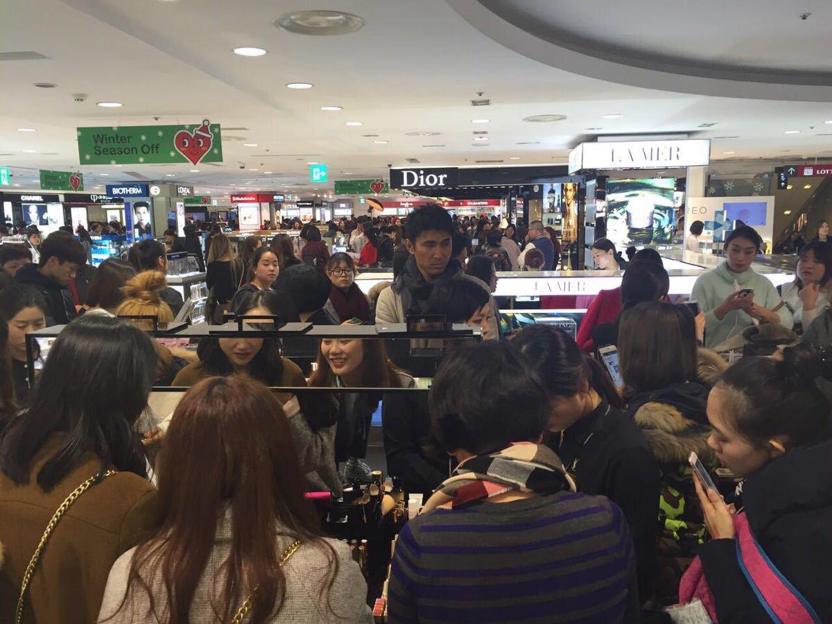 去韩国市内的新罗免税店买东西,不是机场的,买