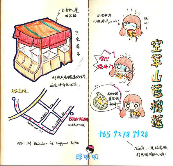 美食林体验师#新加坡5天手绘旅行手账