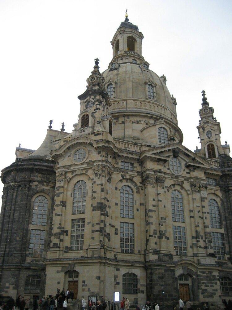 教堂一点透视手绘图