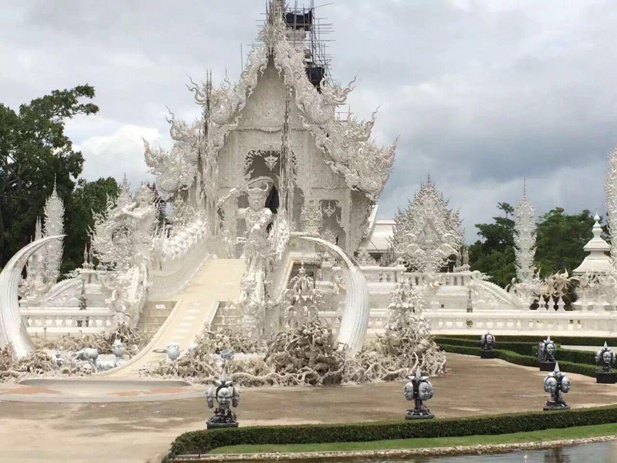 手绘五台山白庙